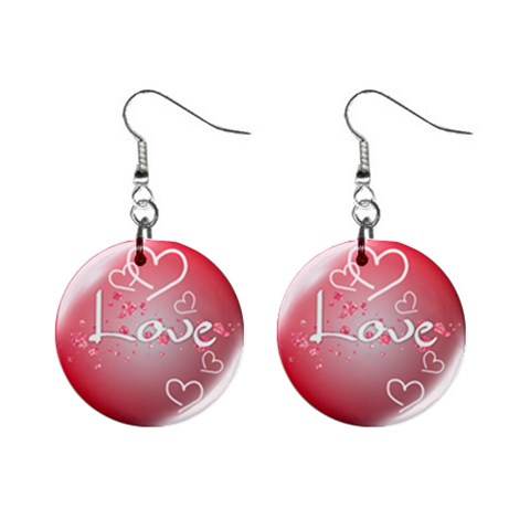 Love By Chaido   1  Button Earrings   Rrdk28wl95by   Www Artscow Com Front