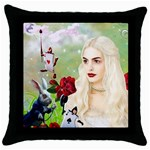 Alice 2 - Throw Pillow Case (Black)