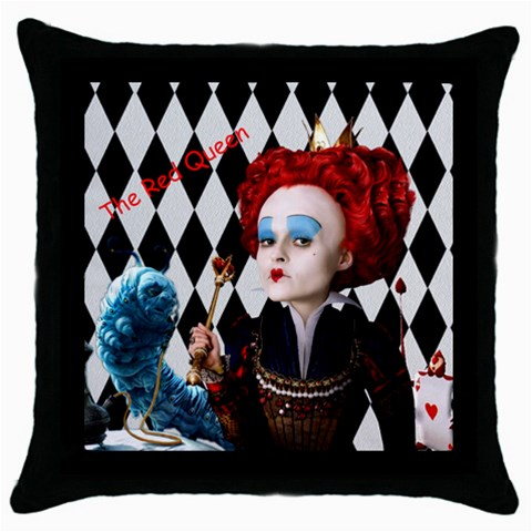 The Red Queen By Chaido   Throw Pillow Case (black)   Lbocwip17yvh   Www Artscow Com Front