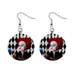 The Red Queen 3 - 1  Button Earrings
