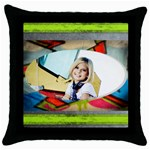 graffiti pillow - Throw Pillow Case (Black)