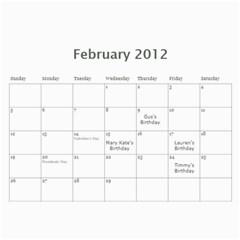 12calendar By Therese   Wall Calendar 11  X 8 5  (18 Months)   Yw41v800tgew   Www Artscow Com Feb 2012