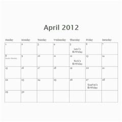 12calendar By Therese   Wall Calendar 11  X 8 5  (18 Months)   Yw41v800tgew   Www Artscow Com Apr 2012