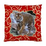 Red and Gold (2 Sided) Cushion - Standard Cushion Case (Two Sides)