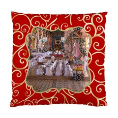 Red And Gold (2 Sided) Cushion By Deborah   Standard Cushion Case (two Sides)   Om38zpr0b7bz   Www Artscow Com Back