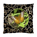 Black and Gold (2 Sided) Cushion - Standard Cushion Case (Two Sides)