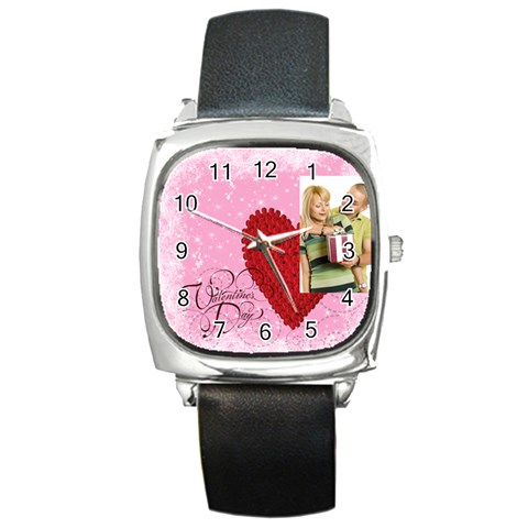 Love By May   Square Metal Watch   Qhgck61djejp   Www Artscow Com Front