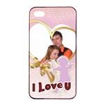 love - Apple iPhone 4/4s Seamless Case (Black)