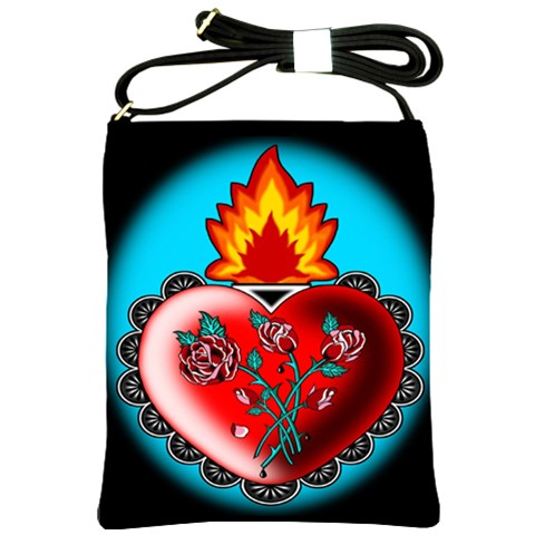 Heart Fire Shoulder Sling Bag By Chaido   Shoulder Sling Bag   Kprkxqwwle9e   Www Artscow Com Front