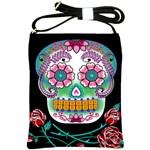 Sugar Skull Shoulder Sling Bag