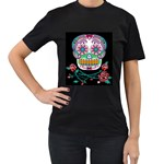Sugar Skull Women s Black T-shirt - Women s T-Shirt (Black)