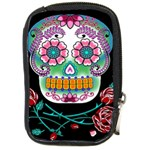 Sugar Skull Camera Leather Case - Compact Camera Leather Case