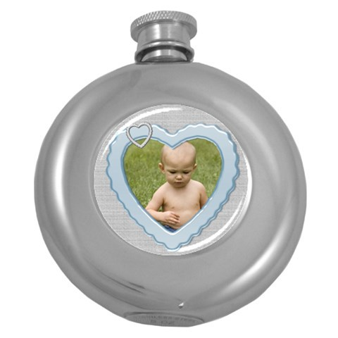 My Heart Hip Flask By Deborah   Hip Flask (5 Oz)   Otb6x9ywurrw   Www Artscow Com Front