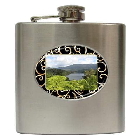 Our Home Hip Flask By Deborah   Hip Flask (6 Oz)   Ztu61b5zb3j4   Www Artscow Com Front