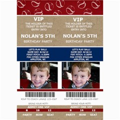 Sports Ticket Invite By Lana Laflen   5  X 7  Photo Cards   5dkz707l3jt4   Www Artscow Com 7 x5 Photo Card - 4