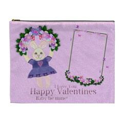 Pink Garden Of Love By Claire Mcallen   Cosmetic Bag (xl)   Qkts4arzdlp9   Www Artscow Com Front