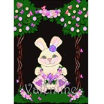 Valentine Bunny card - Greeting Card 5  x 7