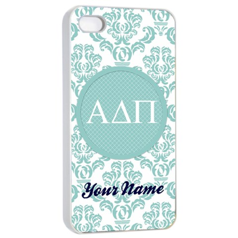 Alpha Delta Pi Sorority Iphone 4/4s Case By Klh   Apple Iphone 4/4s Seamless Case (white)   Kmy2ffga80ed   Www Artscow Com Front