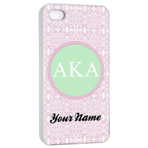 Alpha Kappa Alpha Sorority Iphone 4/4s Case By Klh   Apple Iphone 4/4s Seamless Case (white)   Mf26u9no7p1i   Www Artscow Com Front