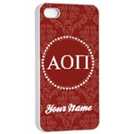 Alpha Omicron Pi Sorority iPhone 4/4s Case - Apple iPhone 4/4s Seamless Case (White)