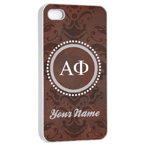 Alpha Phi Sorority Iphone 4/4s Case By Klh   Apple Iphone 4/4s Seamless Case (white)   5np9mvq3xdbn   Www Artscow Com Front