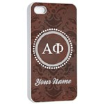 Alpha Phi Sorority iPhone 4/4s Case - Apple iPhone 4/4s Seamless Case (White)