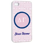 Delta Gamma Sorority iPhone 4/4s Case - Apple iPhone 4/4s Seamless Case (White)