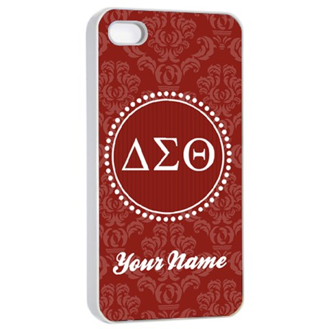 Delta Sigma Theta Sorority Iphone 4/4s Case By Klh   Apple Iphone 4/4s Seamless Case (white)   Hqttcyevo5cj   Www Artscow Com Front