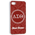 Delta Sigma Theta Sorority iPhone 4/4s Case - Apple iPhone 4/4s Seamless Case (White)