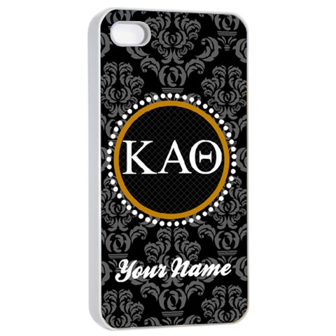 Kappa Alpha Theta Sorority Iphone 4/4s Case By Klh   Apple Iphone 4/4s Seamless Case (white)   Twww8wv9ohzg   Www Artscow Com Front