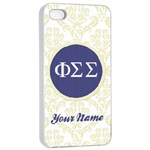 Phi Sigma Sigma Sorority iPhone 4/4s Case - Apple iPhone 4/4s Seamless Case (White)