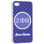 Zeta Phi Beta Sorority iPhone 4/4s Case - Apple iPhone 4/4s Seamless Case (White)
