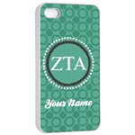 Zeta Tau Alpha Sorority iPhone 4/4s Case - Apple iPhone 4/4s Seamless Case (White)