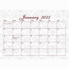 2015 February Start Red Love Heart Calendar By Claire Mcallen   Wall Calendar 8 5  X 6    Sz1qtfulieuk   Www Artscow Com Jan 2015