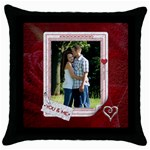 You and Me Throw Pillow Case - Throw Pillow Case (Black)