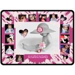 Baby Girl Blanket Pink - Fleece Blanket (Large)