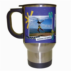 Travel Mug: Summer Escapade By Jennyl   Travel Mug (white)   Biagem9wcxtl   Www Artscow Com Left