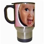 baby girl - Travel Mug (White)