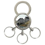 Peggy s Cove Dock 3-Ring Key Chain