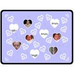 Blue Baby Love Blanket - Fleece Blanket (Large)