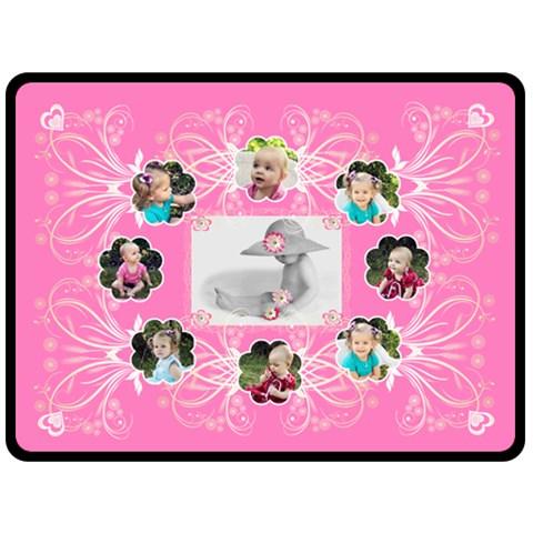 Squiggle Baby Blanket By Birkie   Fleece Blanket (large)   Xzfctievr2e6   Www Artscow Com 80 x60 Blanket Front