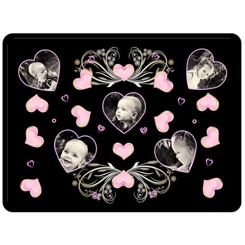 Black Heart Blanket Xl By Birkie   Fleece Blanket (large)   3v3t26k9vp5c   Www Artscow Com 80 x60 Blanket Front