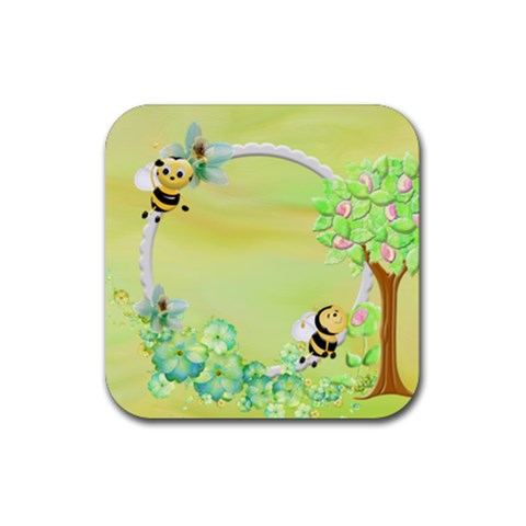 Rubber Coaster 1 By Snackpackgu   Rubber Coaster (square)   63wp9pecj99j   Www Artscow Com Front