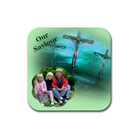 Our Saviour Coaster By Deborah   Rubber Coaster (square)   Z26wgn2jhw6g   Www Artscow Com Front