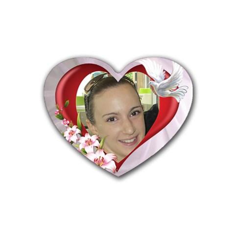 My Heart Coaster By Deborah   Rubber Coaster (heart)   74xyh3dt8h87   Www Artscow Com Front