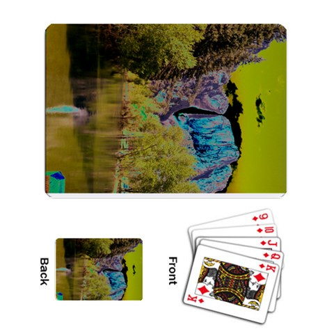 Yosemite By Kim Stokes   Playing Cards Single Design   Ll5ja6uvfebx   Www Artscow Com Back