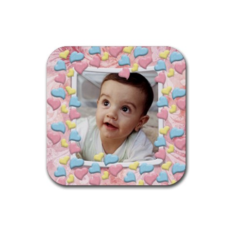 Love You   Rubber Coaster (square)1 By Snackpackgu   Rubber Coaster (square)   Ikl4aoyomn63   Www Artscow Com Front