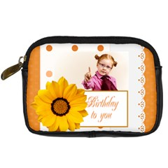 Happy Birthday By Joely   Digital Camera Leather Case   Hohfm2oh95j6   Www Artscow Com Front