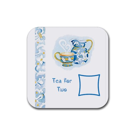 Tea For Two Coaster By Birkie   Rubber Coaster (square)   Yrxjh6by5zbd   Www Artscow Com Front