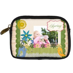 Spring By Joely   Digital Camera Leather Case   0o8n7mse70nv   Www Artscow Com Front